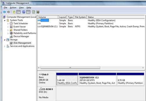 computer management screen