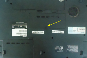 laptop memory back