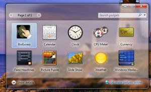 window 7 gadgets